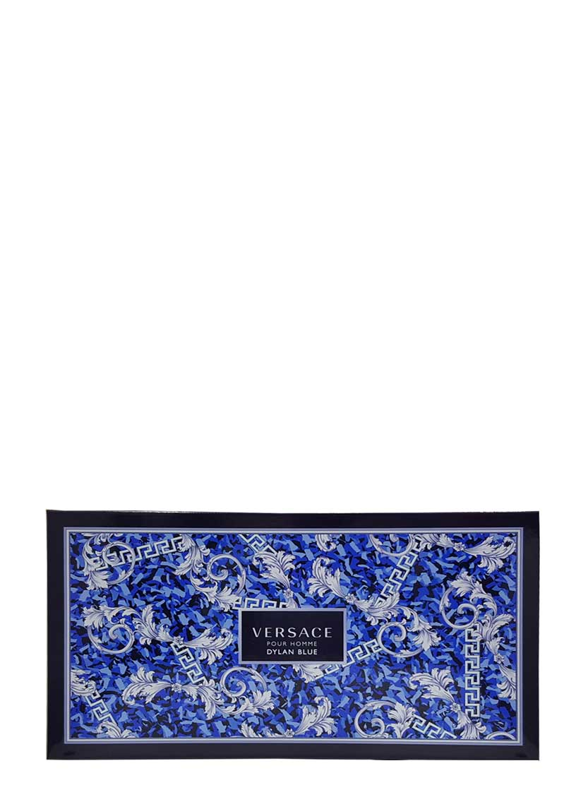Dylan Blue Gift Set for Men (edT 100ml + After Shave Balm + Perfumed Bath and Shower Gel + Mini 10ml) by Versace