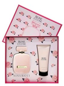 Rose Extase Gift Set for Women (edT Sensual 80ml + Sensual Body Lotion) by Nina Ricci