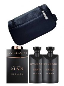 Man In Black Gift Set (edP 100ml + Shampoo and Shower Gel + After Shave Balm + Toiletry Pouch) by Bvlgari