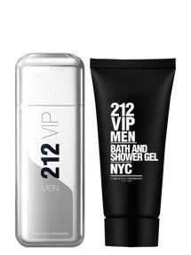 212 VIP MEN Gift Set for Men (edT 100ml + Bath and Shower Gel) by Carolina Herrera