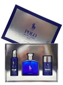 Polo Blue Gift Set for Men (edP 125ml + Moisturizing Face Lotion + Alcohol-Free Deodorant) by Ralph Lauren