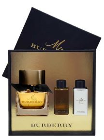 My Burberry Black Gift Set for Women (Parfum 90ml + Bathing Gel + Body Lotion) by Burberry