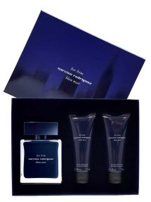 Bleu Noir Gift Set for Men (edT 100ml + All Over Shower Gel + All Over Shower Gel) by Narciso Rodriguez