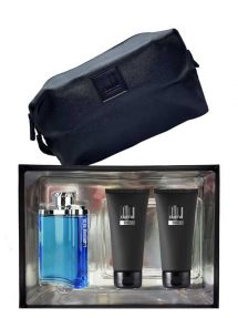 Desire Blue Gift Set for Men (edT 100ml + Shower Gel + After Shave Balm + Toiletry Bag) by Dunhill