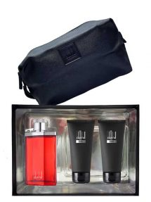 Desire Red Gift Set for Men (edT 100ml + Shower Gel + After Shave Balm + Toiletry Bag) by Dunhill