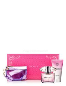 Bright Crystal Gift Set for Women (edT 90ml + Lotion + Bag) by Versace